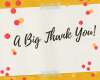 A Great Note of Thanks!